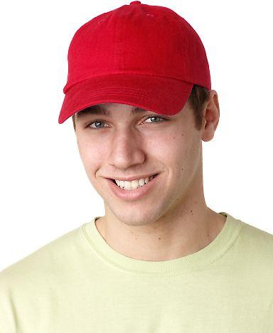 Adams EB101 Brushed Twill Dad Hat RED