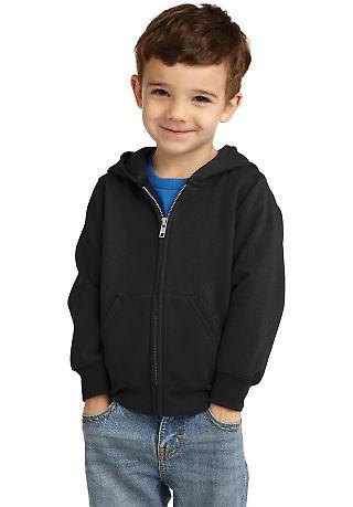 Port & Company CAR78TZH  Toddler Core Fleece Full-Zip Hooded Sweatshirt