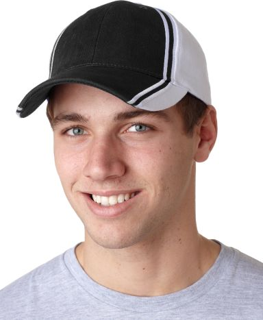 CG102 Adams Cotton Twill Collegiate Cap Black (Discontinued)