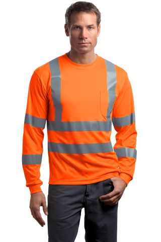 CornerStone ANSI Class 3 Long Sleeve Snag Resistant Reflective T Shirt CS409