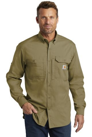 CARHARTT 102418 Carhartt Force  Ridgefield Solid Long Sleeve Shirt