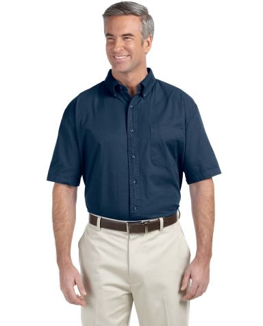 D500S Devon & Jones Men's Short-Sleeve Titan Twill Navy