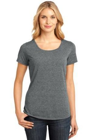 DM441 District Made Ladies Tri-Blend Lace Tee