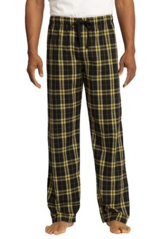 District DT1800 Young Mens Flannel Plaid Pant Gold