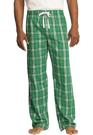 District DT1800 Young Mens Flannel Plaid Pant