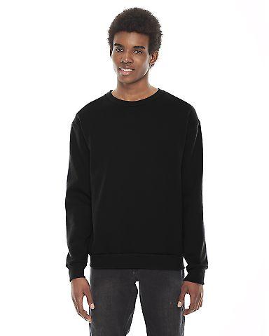 American Apparel F496 Unisex Fleece Drop Shoulder Pullover Black(Discontinued)