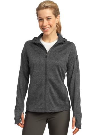 Sport Tek Ladies Tech Fleece Full Zip Hooded Jacket L248