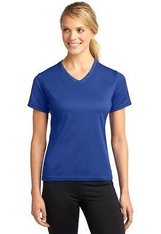 80f0603b Sport Tek Dri Mesh Ladies V Neck T Shirt L468V
