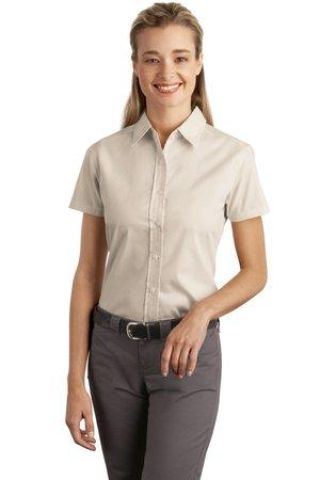 f635928f 242 L507 CLOSEOUT Port Authority Ladies Short Sleeve Easy Care Soil  Resistant Shirt