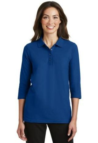 Port Authority Ladies Silk Touch153 34 Sleeve Polo L562