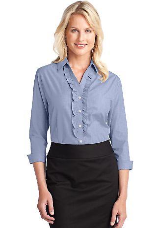 Port Authority Ladies Crosshatch Ruffle Easy Care Shirt L644