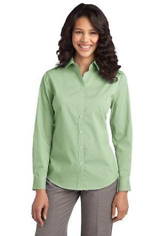 Port Authority L647    Ladies Fine Stripe Stretch Poplin Shirt