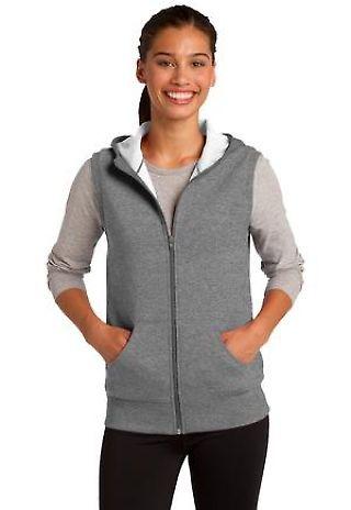 Sport Tek LST268 CLOSEOUT Sport-Tek Ladies Hooded Fleece Vest