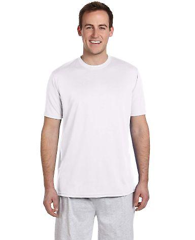 Harriton M320 Men's 4.2 oz. Athletic Sport T-Shirt WHITE