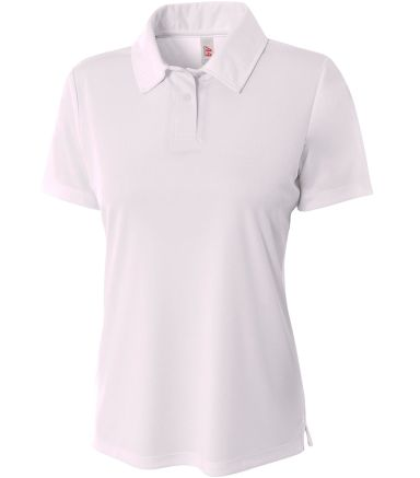 NW3261 A4 Drop Ship Ladies' Solid Interlock Polo WHITE