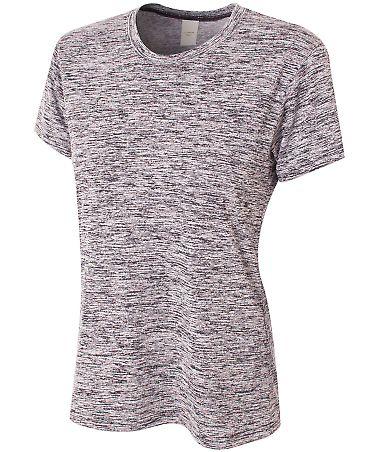 NW3296 A4 Drop Ship Ladies' Space Dye Tech T-Shirt BLACK