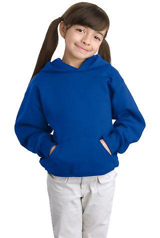 P470 Hanes Youth EcoSmart Pullover Hooded Sweatshirt Deep Royal