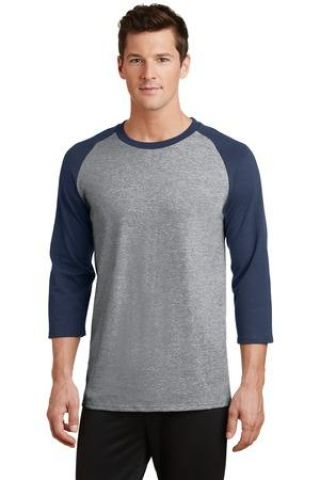 PC55RS Port & Company® 50/50 3/4-Sleeve Raglan