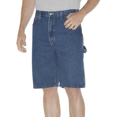Dickies Workwear DX200 Unisex 11 Relaxed Fit Carpenter Denim Short SW IND BLUE _30