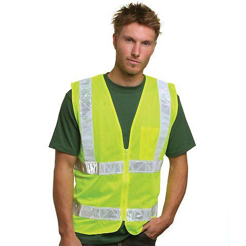 BA3785 Bayside Mesh Safety Vest - Lime