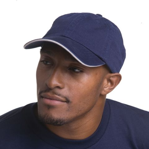 Bayside BA3617 Washed Cotton Unstructured Sandwich Cap