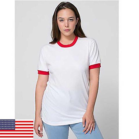 American Apparel BB410 Unisex Poly-Cotton Short Sleeve Ringer T-Shirt