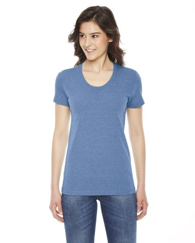 TR301 American Apparel Women's Tri-blend Short Sleeve Track Tee Athletic Blue (Discontinued)