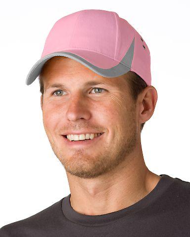 WV102 Adams Cotton Twill Wave Cap Pink/Grey
