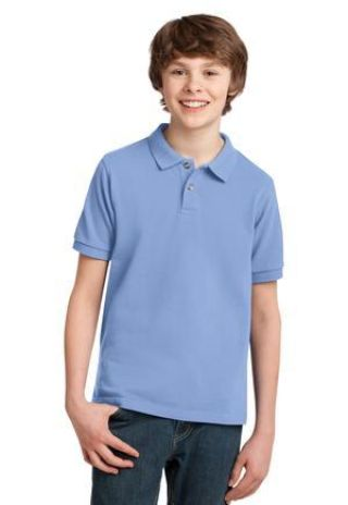 Port Authority Youth Pique Knit Polo Y420