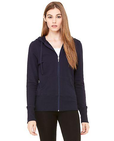 BELLA 7207 Ladies French Terry Zip-up Jacket MIDNIGHT