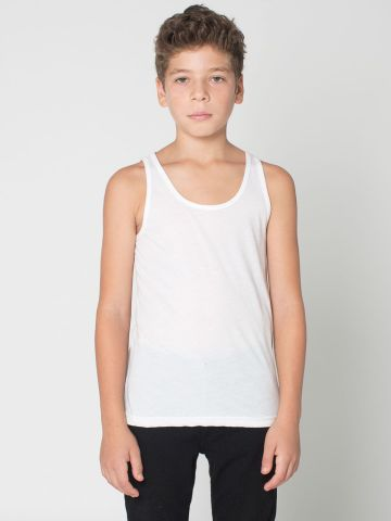 American Apparel BB208W Youth Poly-Cotton Tank White