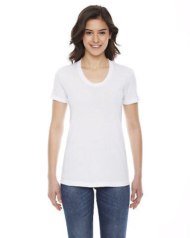 BB301W Ladies' Poly-Cotton Short-Sleeve Crewneck White
