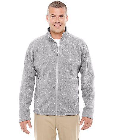 DG793 Devon & Jones Men's Bristol Full-Zip Sweater Fleece Jacket GREY HEATHER