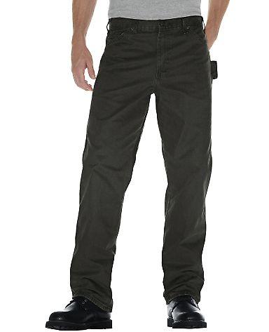 Dickies Workwear DU336R Men's Relaxed Fit Straight-Leg Carpenter Duck Pant MOSS _30