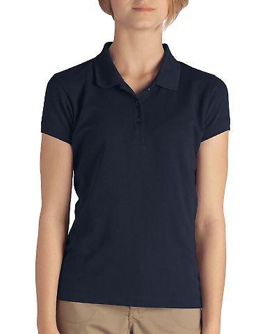Dickies Workwear KS3952 Girl's  Short-Sleeve Pique Polo DARK NAVY