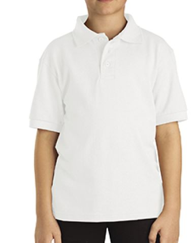 Dickies Workwear KS4552 Boy's Short-Sleeve Performance Polo WHITE