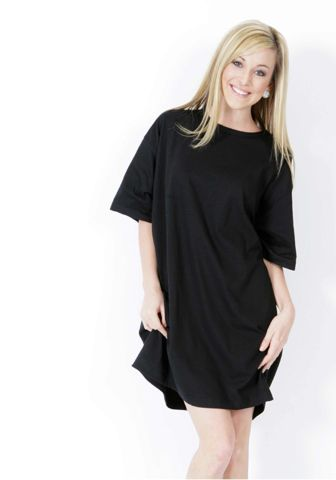 Cotton Heritage LC7510 Ladies Oversized Sleep Shirt Black