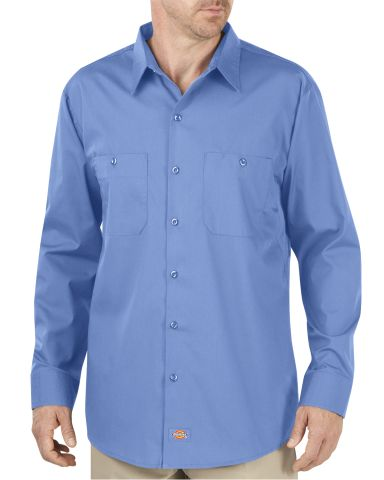 Dickies Workwear LL516T Unisex Tall Industrial WorkTech Long-Sleeve Ventilated Performance Shirt LIGHT BLUE DOW
