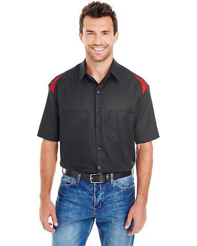 Dickies Workwear LS605 Men's 4.6 oz. Performance Team Shirt BLACK/ ENG RED