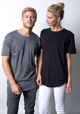 MC1050 Cotton Heritage Drop Tail Crew Neck T-shirt Cool Grey