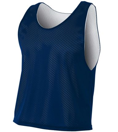 NB2274 A4 Drop Ship Youth Lacrosse Reversible Practice Jersey NAVY/ WHITE