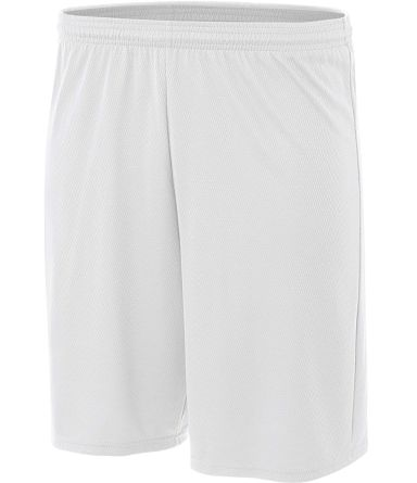 NB5281 A4 Youth Cooling Performance Power Mesh Practice Short WHITE