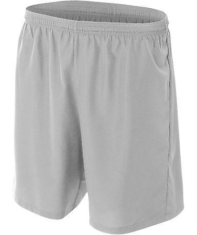 NB5343 A4 Drop Ship Youth Woven Soccer Shorts SILVER