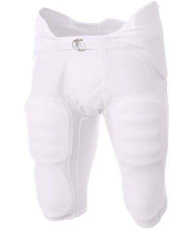 NB6180 A4 Youth Flyless Integrated Football Pant WHITE