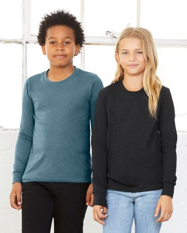 BELLA+CANVAS 3501Y Youth Long-Sleeve T-Shirt Catalog