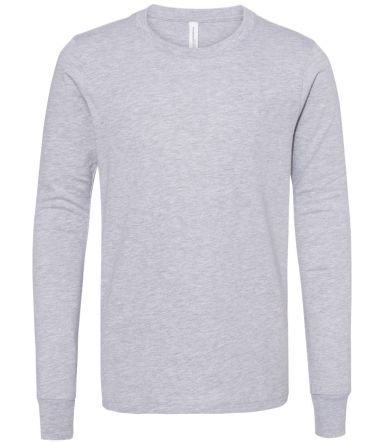 BELLA+CANVAS 3501Y Youth Long-Sleeve T-Shirt ATHLETIC HEATHER