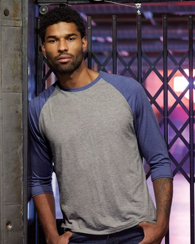 A6755 Anvil Adult Tri-Blend 3/4-Sleeve Raglan Tee  Catalog