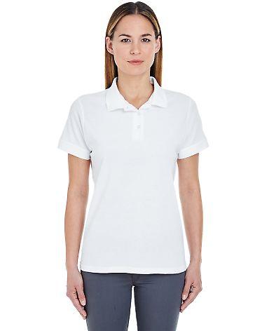 8550L UltraClub Ladies' Basic Piqué Polo  White