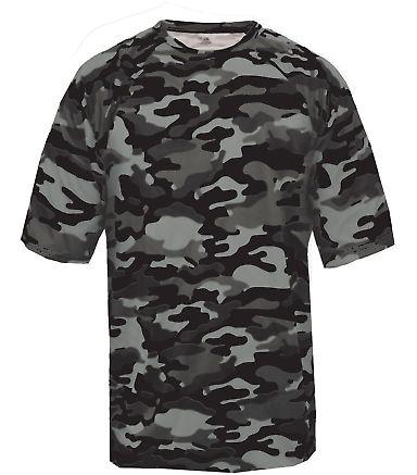 4181 Badger  Camo Short Sleeve T-Shirt Black