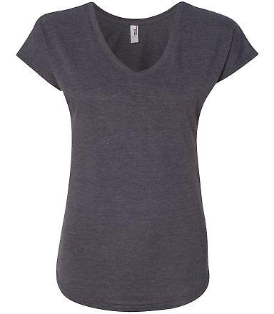 6750VL Anvil - Ladies' Triblend V-Neck T-Shirt  Heather Dark Grey